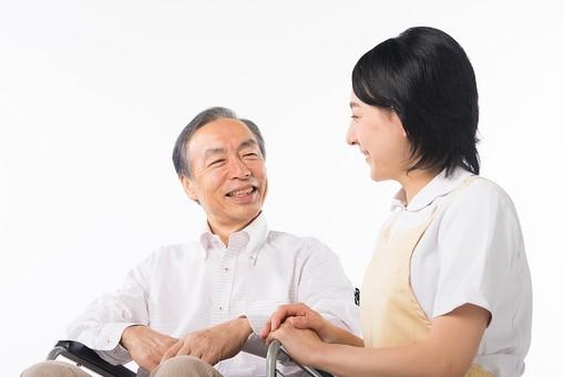 障害者と会話